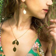 model wears jewellery